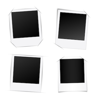 Creative photo frame template mockup.