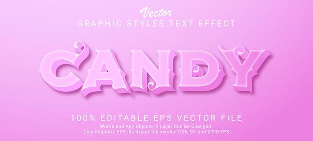 クリエイティブなピンクのお菓子のテキストスタイルの効果