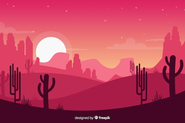 Creative pink desert landscape background