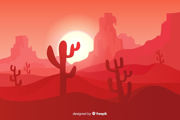 Creative pink desert landscape background
