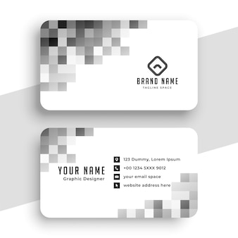 Creative pixel style business card design