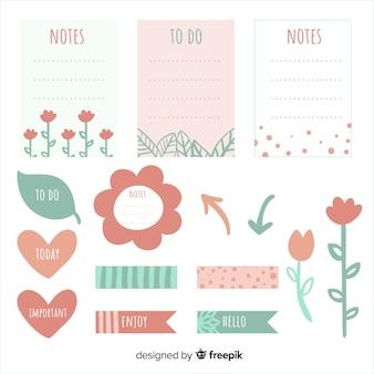 Raccolta di elementi di pianificazione creativa