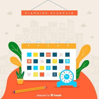 Creative planning schedule concept