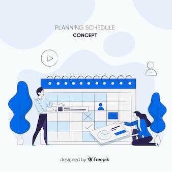 Creative planning schedule template