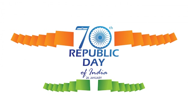 Creative poster, banner or flyer for republic day
