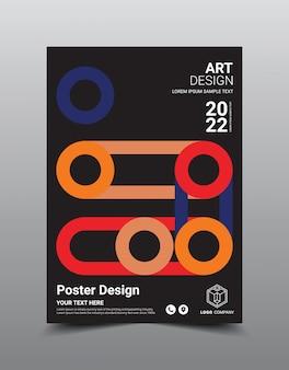 크리 에이 티브 포스터 잡지 디자인 템플릿입니다.