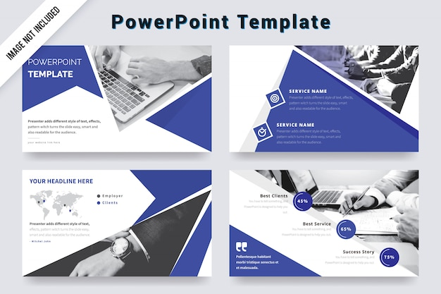 Creative presentation slides with photo