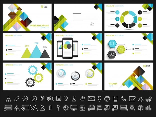 Creative presentation templates for your business reports and presentation. can be used as brochure, leaflet, cover design.
