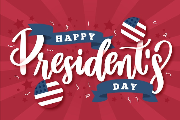 クリエイティブ大統領の日のレタリング