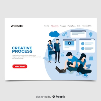 Creative process landing page
