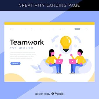 Creative process landing page