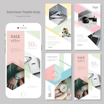 Creative product discount social media post template Premium Vector