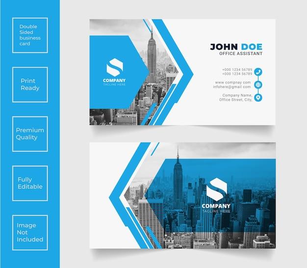 Creative professional business card vector template design