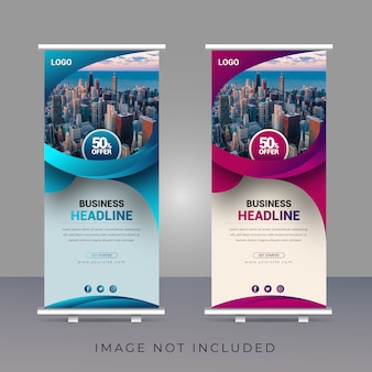 Creative professional business modern roll up banner template design