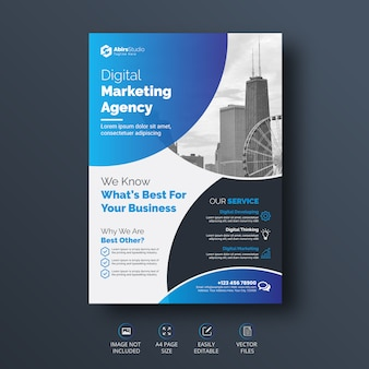 Creative and professional corporate business flyer template