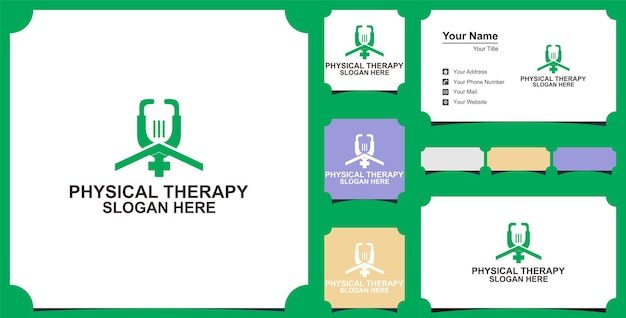 Creative and professional medical home logo design vector and business card