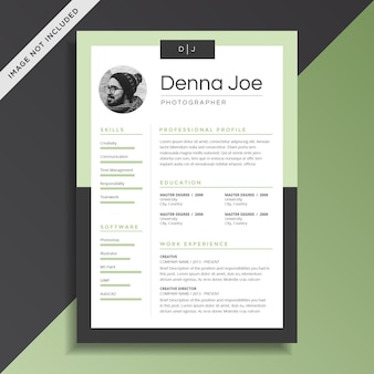 Creative and professional resume cv template design