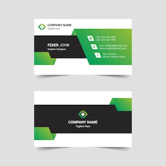 Creative professional vector business card