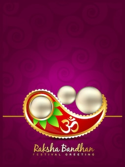 Creative purple design for raksha bandhan