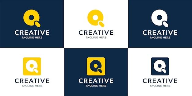 クリエイティブq初期アルファベットロゴデザインテンプレート