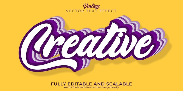 Creative quote text effect, editable business and marketing text style