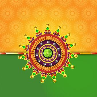 Creative rakhi design for indian festival of brother and sister, happy raksha bandhan.