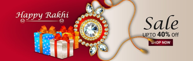Creative raksha bandhan festival greeting card