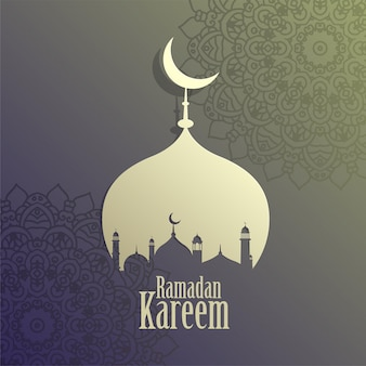 Creative ramadan kareem islamic mosque background
