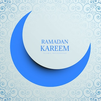 Творческий рамадан карим с фоном луны