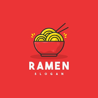 Creative ramen logo illustration