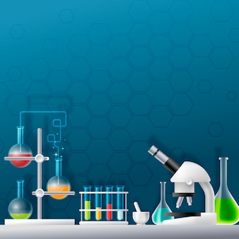 Creative realistic science lab illustrated