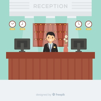 Creative reception concept in flat design