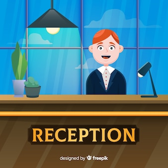 Creative reception concept in flat design
