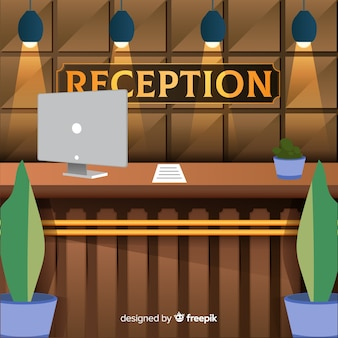 Creative reception concept in flat style