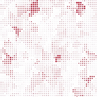 Creative red and white halftone background