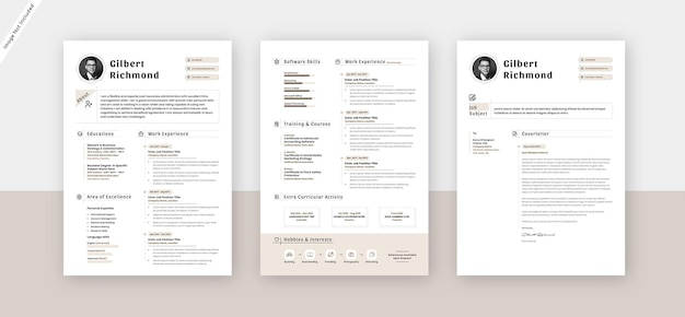 Креативное резюме шаблон дизайна резюме