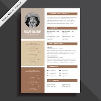 Creative resume cv template design