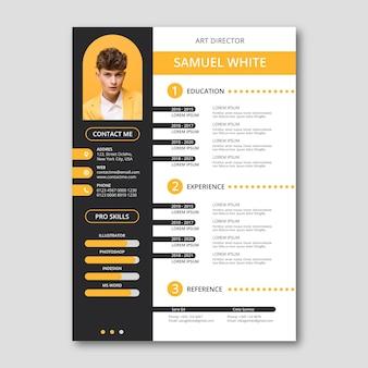 Creative resume design template