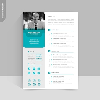 クリエイティブな履歴書のデザイン