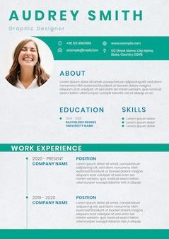 Creative resume editable template for job hunt