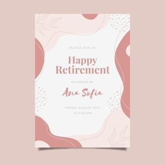 Creative retirement greeting card template