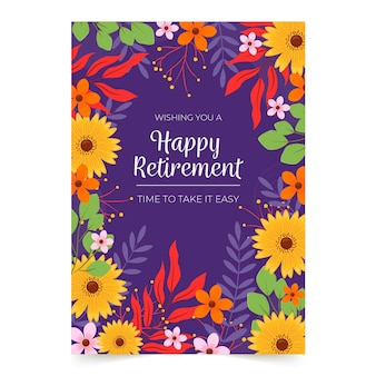 Creative retirement greeting card template