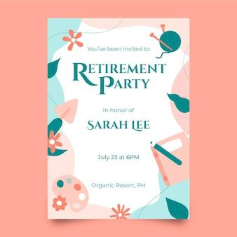 Creative retirement greeting card