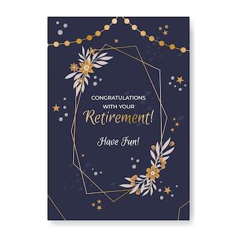 크리 에이 티브 은퇴 인사 카드