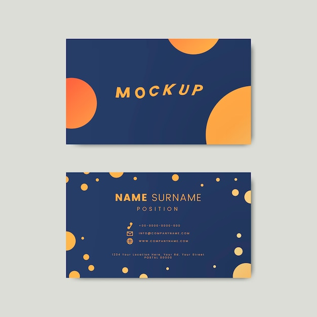 A creative retro business card design featuring polka dots