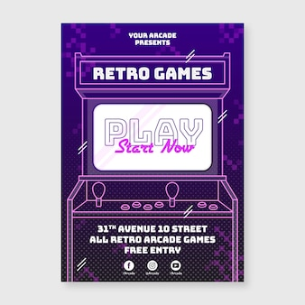 Creative retro gaming poster