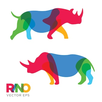Creative rhinoceros animal design