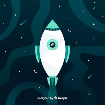 Creative rocket background