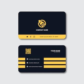 Creative rocket логотип и шаблон визитной карточки