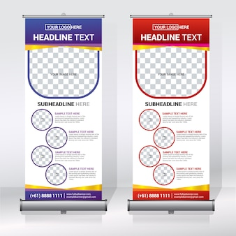Creative roll up banner design template